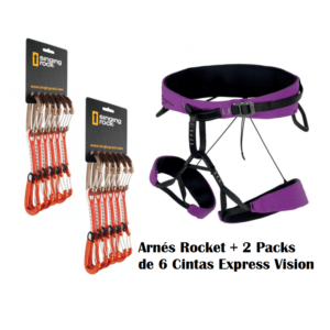 Pack comprendido de 1 Arnés Rocket + 2 Packs Express Vision.