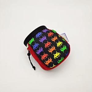 space invaders chalk bag