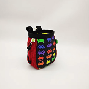space invaders chalk bag